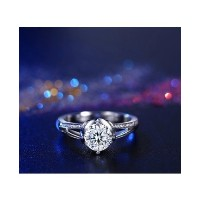 White gold filled CZ engagement Rings for Women (Size-JP-14)