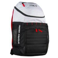 UNDER ARMOUR SC30 CONTAIN BACKPACKWhite/Black/Red バックパック リュックサック アンダーアーマー ステフィン・カリー