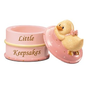 Russ Berrie Keepsake Box, Pink (Discontinued by Manufacturer) by Russ Berrie