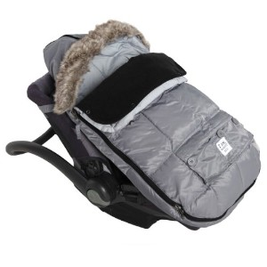 7AM Enfant Le Sac Igloo Footmuff, Converts into a Single Panel Stroller and Car Seat Cover, Gray,...