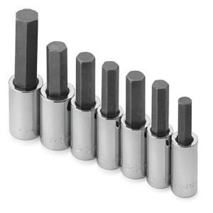 S K Hand Tools SKT41227 .50in. Drive SAE Hex Bit Socket Set - 7 Pieces