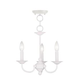 Livex Lighting 4153-03 Chandelier with No Shades, White by Livex Lighting