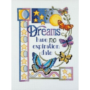 """Dreams Have No Expiration Date Counted Cross Stitch Kit-7""""X9-1/4"""" 14 Count (並行輸入品)"""