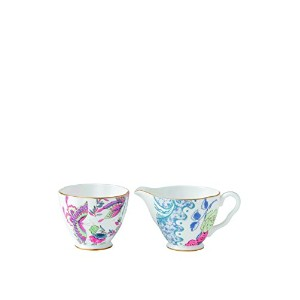 Wedgwood Harlequin Butterfly Bloom Ceramic Creamer and Sugar Cup by Wedgwood