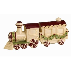 Grasslands Road Deck the Halls Train Salt and Pepper Shakers by Grasslands Road