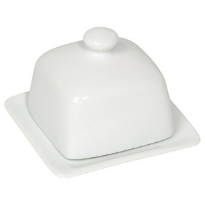 Now Designs Square Butter Dish, White by Now Designs