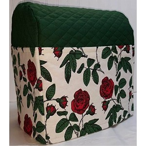 Red Roses Kitchenaid Lift Bowl Stand Mixer Cover (Hunter Green) by Penny's Needful Things