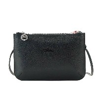 LONGCHAMP 2072-021-A40LE FOULONNEロンシャン ル フローネナナメガケバッグレザーブラック×ピンク系