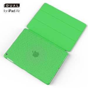 iPad Air ケース カバー | MESH SHELL CASE for iPad Air マット グリーン
