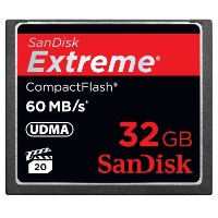Sandisk Extreme 32GB 60MB/s 400X UDMA CF(コンパクトフラッシュ) 海外パッケージ