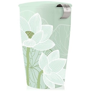 Tea Fortテδゥ KATI Single Cup Loose Leaf Tea Brewing System, Insulated Ceramic Cup with Tea Infuser...