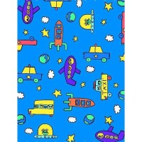SheetWorld Fitted Pack N Play (Graco) Sheet - Kiddie Transport - Made In USA by sheetworld