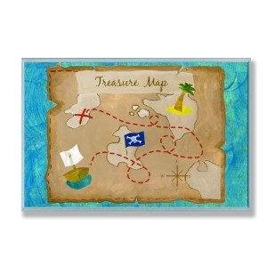The Kids Room by Stupell Pirate's Treasure Map Rectangle Wall Plaque by The Kids Room by Stupell