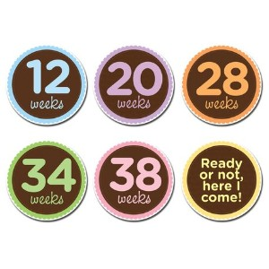 Sticky Bellies Maternity Stickers for Weekly Baby Bump Photos - Oh Sew Ready by Sticky Bellies