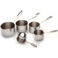 All-Clad 59917 Stainless Steel Measuring Cups Cookware Set, 5-Piece, Silver by All-Clad