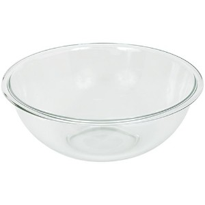 Pyrex Prepware 4-Quart Rimmed Mixing Bowl, Clear by Pyrex