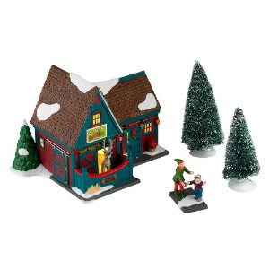 Department 56 Christmas-Inchthe City 2012 Annual Gift Set, Santas Reindeer Petting Stable Lit House...