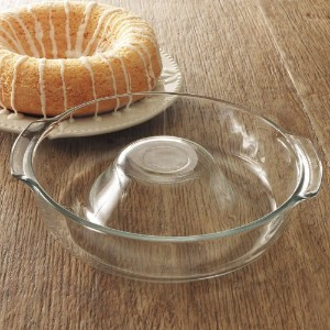 Libbey Ring Pan Glass Baking Dish by Libbey