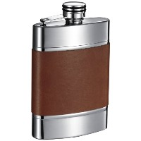 Visol Wickeln Leather Liquor Flask, 6-Ounce, Brown by Visol