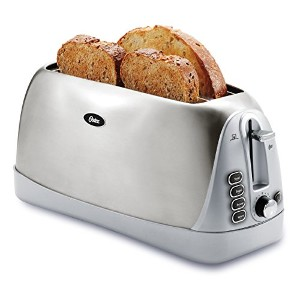 Oster TSSTTR6330-NP 4 Slice Long Slot Toaster, Stainless Steel by Oster