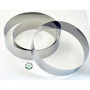 NewlineNY Stainless Steel 3 Sizes Round Molding Plating Forming Cake Mousse Rings, Set of 3 by...