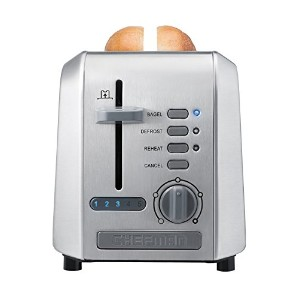 Chefman RJ31-SS Stainless 2-Slice Toaster, Silver by Chefman