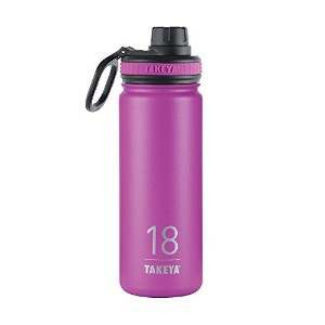 Takeya ThermoFlask Insulated Stainless Steel Water Bottle, 18 oz, Orchid by Takeya