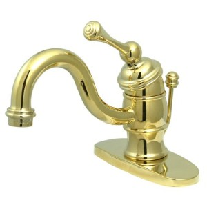 Kingston Brass KB3402BL Single Handle 4 in. Centerset Lavatory Faucet with Retail Pop-up & Optional...