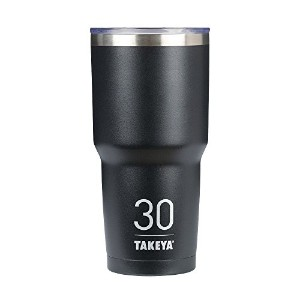 Takeya ThermoTumbler Insulated Stainless Steel Tumbler with Sip Lid, Asphalt, 30 Ounce by Takeya