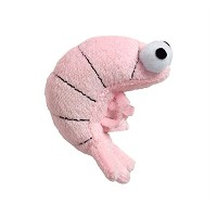Doggles Cat Toy, Sushi Shrimp Pink by Doggles