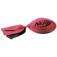 Nerf Dog Medium to Large Red Retriever Football Flyer Dog Toy by Nerf Dog