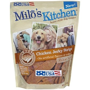 Milo's Kitchen Chicken Jerky Strips Home Style Delicious Dog Chew Treats 18oz