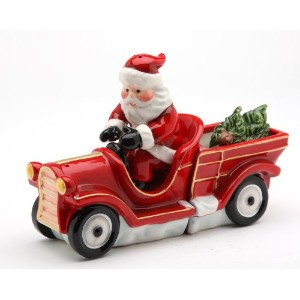 コスモスSanta on Firetruck Salt and Pepper Set、6 – 1 / 2インチLong