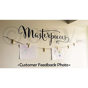 Masterpieces wall saying vinyl lettering art decal quote sticker home decal (Black) by Wall Sayings...