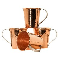 Sertodo Moscow Mule Mug set of 4, Hammered Copper, 18 fluid ounces by Sertodo Copper