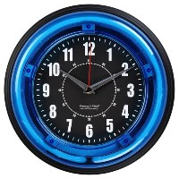 """Sterling and Noble 11"""" Neon Wall Clock, Neon Blue by Sterling & Noble [並行輸入品]"""