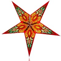 Happy Sales HSSL-FBBLRD Babylon Paper Star Lantern Red, by Happy Sales
