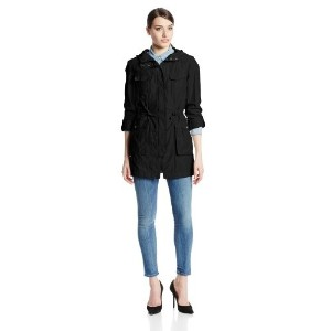 Cole Haan Womens Four Pocket Zip Anorak Black X-Small