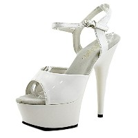 Pleaser DELIGHT-609 Wht Pat/Wht UK 3 (EU 36 )[並行輸入品]