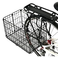 Axiom Folding Rear Pannier Basket Black by Axiom
