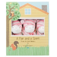 Angel Dear Pair and a Spare 3 Piece Blanket Set, Bright Pink Zebra by Angel Dear