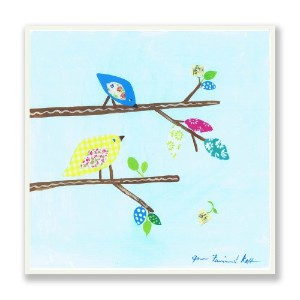 The Kids Room by Stupell Patchwork Bird on Branches Rectangle Wall Plaque by The Kids Room by...
