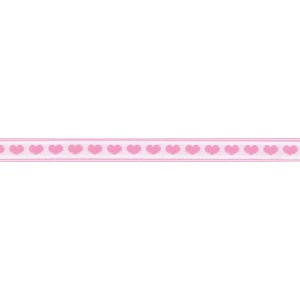 "Hearts Ribbon 1/2"" Wide (size 2) 10 Yards-Pink On White (並行輸入品)"