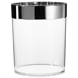 Carnation Home Fashions Clear Acrylic Waste Basket with Chrome Trim by Carnation Home Fashions