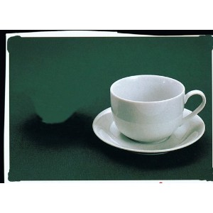 Harold Import 7890 Porcelain 13 Oz. Cafe Au Lait CUP with Saucer - Set of 4 by Harold Import...