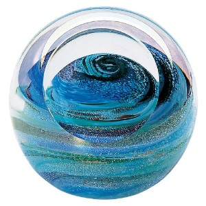 ガラスEye Studio Uranus Blown Glass Paperweight