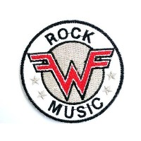 WEEZER Rock Music patches Embroidered iron/sew on Patch to Cloth, Jacket, Jean, Cap, T-shirt and...