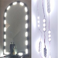 60LED 9.8Ft make-upバニティミラーライトDIYライト用のキットのCosmeticメイクアップ化粧台ミラーwith Power Supply and on / offスイッチ/