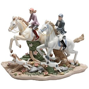 Cosmos Gifts 20850 Call of The Hunt Ceramic Horse Figurine, 13-1/4-Inch [並行輸入品]