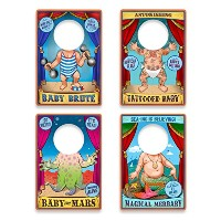 Fred & Friends TRAVELING SIDESHOW Reusable Bibs, 20 Count by Fred & Friends